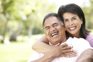 smiling latino couple