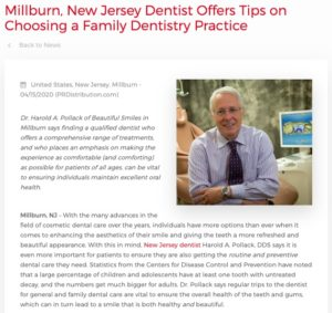 Millburn, New Jersey dentist Harold A. Pollack, DDS explains how to choose the best family dentist.